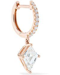 Anita Ko - Huggie 18-karat Rose Gold Diamond Earring - Lyst