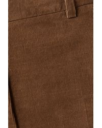 Akris Flavin Cropped Tapered Cotton-corduroy Tapered Trousers - Brown