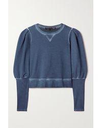 Veronica Beard Analeigh Cotton-terry Sweatshirt - Blue