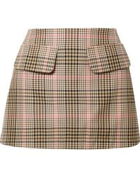 Maggie Marilyn + Net Sustain Short And Sweet Checked Woven Mini Skirt - Multicolor