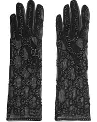 Gucci - Embroidered Tulle Gloves - Lyst