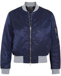 Rag & Bone - Manston Jersey-trimmed Satin Bomber Jacket - Lyst