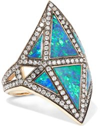 Noor Fares - Nellum 18-karat Gold Multi-stone Ring - Lyst
