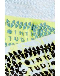 Pointe Studio Fashion Studio Set Of Three Cotton-blend Socks - Blue