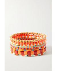 Roxanne Assoulin Colour Therapy Set Aus Acht Armbändern Mit Emaille Und Goldfarbenen Details - Orange