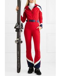 Perfect Moment Allos Belted Color-block Ski Suit - Red