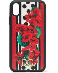 Dolce & Gabbana Printed Textured-leather Iphone Xr Case
