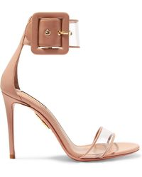 Aquazzura - Seduction Pvc And Leather Sandals - Lyst