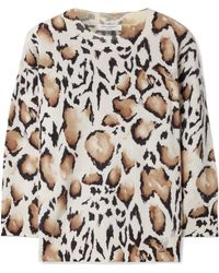 Equipment - Melanie Overzized Leopard-print Cashmere Jumper - Lyst