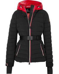 3 MONCLER GRENOBLE Bruche Belted Two-tone Quilted Ski Jacket - Black