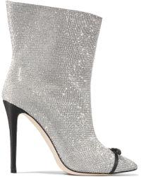 Marco De Vincenzo - Swarovski Crystal-embellished Leather Ankle Boots - Lyst