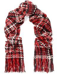 Rag & Bone - Linton Fringed Wool-blend Tweed Scarf - Lyst