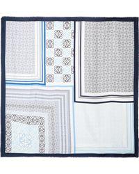 Loewe - Printed Silk Scarf - Lyst
