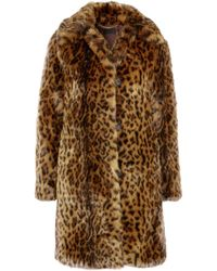 J.Crew | Leopard-print Faux Fur Coat | Lyst