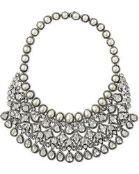 Amrapali - 18-karat Gold, Sterling Silver, Diamond And Pearl Necklace - Lyst