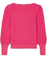 M.i.h Jeans - Celia Pointelle-knit Mohair-blend Jumper - Lyst