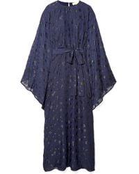 MICHAEL Michael Kors - Oversized Metallic Fil Coupé Chiffon Dress - Lyst