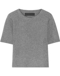 The Elder Statesman - Ribbed Cashmere Top - Lyst