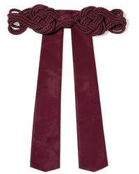 Johanna Ortiz Ritmos Del Sur Silk Rope And Faille Belt - Multicolor