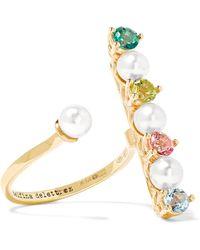 Delfina Delettrez - 9-karat Gold Multi-stone Ring - Lyst