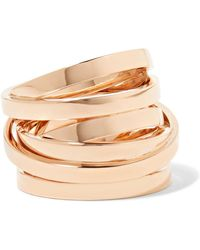 Repossi - Technical Berbère 18-karat Rose Gold Ring - Lyst