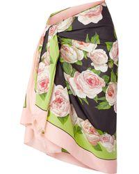 Dolce & Gabbana - Floral-print Cotton-voile Pareo - Lyst