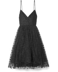J.Crew - Embroidered Tulle Midi Dress - Lyst