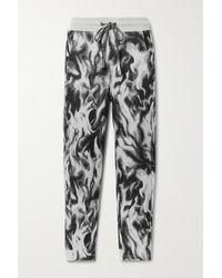 TWENTY MONTREAL Pineapple Hyper Reality Jacquard-knit Cotton-blend Track Pants - Grey