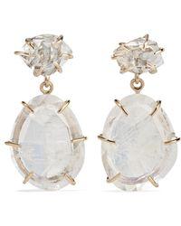Melissa Joy Manning - 14-karat Gold, Moonstone And Herkimer Diamond Earrings - Lyst