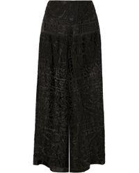 Anna Sui - Devoré-chiffon Wide-leg Pants - Lyst