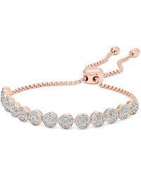 Monica Vinader - Fiji Rose Gold Vermeil Diamond Bracelet - Lyst