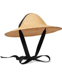 Clyde - Adriatic Cotton-trimmed Straw Hat - Lyst