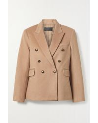 Nili Lotan Henry Double-breasted Camel Hair And Wool-blend Felt Blazer - Brown