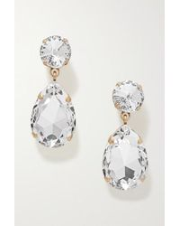 Roxanne Assoulin Hip-hop But Not Gold-tone Swarovski Crystal Clip Earrings - Metallic