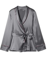 I.D Sarrieri | Kyoto Nights Stretch-silk Satin Pyjama Shirt | Lyst