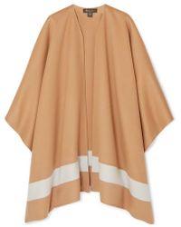 Loro Piana Striped Cashmere Poncho - Natural