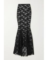 Norma Kamali Lace Maxi Skirt - Black