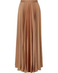 The Row - Vailen Pleated Crepe De Chine Maxi Skirt - Lyst