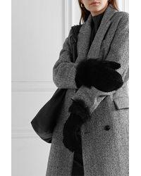Yves Salomon Shearling Mittens - Black