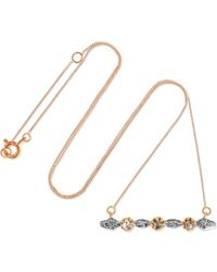 Pascale Monvoisin - Adele 9-karat Gold, Sterling Silver And Diamond Necklace - Lyst