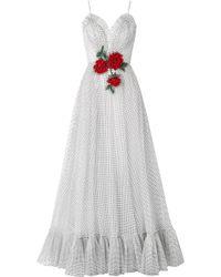 Rodarte - Embellished Flocked Tulle Gown - Lyst