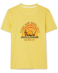 Zimmermann T-shirt En Jersey De Coton Imprimé Goldie - Jaune