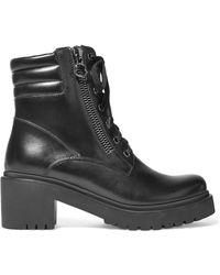 Moncler - Viviane Ankle Boots Aus Leder - Lyst