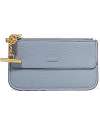 Chloé - Drew Textured-leather Cardholder - Lyst