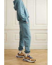 Frankie Shop Vanessa Organic Cotton-jersey Hoodie - Blue