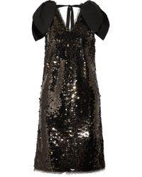 Rejina Pyo Mini-robe En Tulle à Sequins Et à Finitions En Popeline Faye - Noir