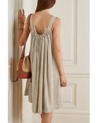 &Daughter Bella Gathered Linen Dress - Natural