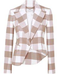 Altuzarra - Lazio Asymmetric Gingham Wool-blend Twill Blazer - Lyst