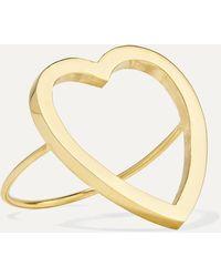 Jennifer Meyer - Open Heart Ring Aus 18 Karat Gold - Lyst