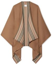 Burberry Reversible Striped Wool Wrap - Multicolor